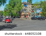 Small photo of Dnipro, Ukraine - May 17, 2017: Illegal parking on a sidewalk in downtown Dnipro. Violation of parking rules and rights of pedestrians with the full connivance of authorities and inactivity of police