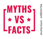 myths vs facts. badge with...   Shutterstock .eps vector #648054766