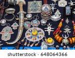 full frame shot of moroccan... | Shutterstock . vector #648064366