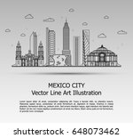 line art vector illustration of ... | Shutterstock .eps vector #648073462
