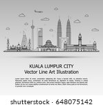 line art vector illustration of ... | Shutterstock .eps vector #648075142