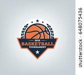 basketball sport logo design...   Shutterstock .eps vector #648075436