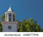 towering church steeple