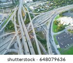 aerial interstate i 610 freeway ... | Shutterstock . vector #648079636