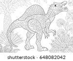stylized spinosaurus dinosaur... | Shutterstock .eps vector #648082042