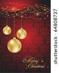 vector christmas background. ... | Shutterstock .eps vector #64808737