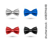 set of colorful realistic bow... | Shutterstock .eps vector #648094648