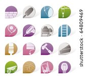 construction and building icons ... | Shutterstock .eps vector #64809469