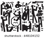 jazz band doodles set | Shutterstock .eps vector #648104152
