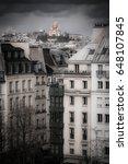 the skyline of paris towards... | Shutterstock . vector #648107845