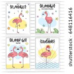 doodle hand drawn set of card... | Shutterstock .eps vector #648116416