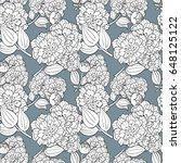 seamless flower pattern. hand... | Shutterstock .eps vector #648125122