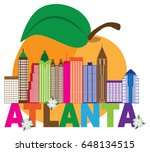 atlanta georgia city skyline... | Shutterstock .eps vector #648134515