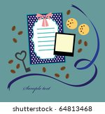 cute vintage objects. vector... | Shutterstock .eps vector #64813468