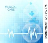 abstract molecules medical... | Shutterstock .eps vector #648147475