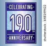 190 years anniversary design... | Shutterstock .eps vector #648149422