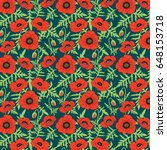 seamless floral botanical...   Shutterstock .eps vector #648153718