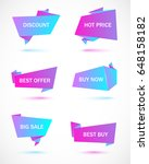 vector stickers  price tag ... | Shutterstock .eps vector #648158182