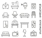 furniture set icons | Shutterstock .eps vector #648165418