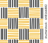 black and yellow stripes on... | Shutterstock .eps vector #648166882