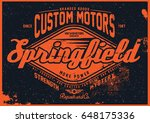 motorcycle t shirt graphic | Shutterstock .eps vector #648175336