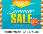 summer sale template banner in... | Shutterstock .eps vector #648176038