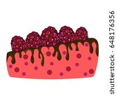 hand drawn delicious cake.... | Shutterstock .eps vector #648176356