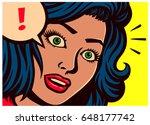 pop art style comic book panel... | Shutterstock .eps vector #648177742