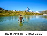 Girl Swimming In Lake Leisee...