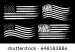 usa american grunge flag set ... | Shutterstock .eps vector #648183886