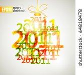 merry christmas  eps10 | Shutterstock .eps vector #64818478