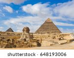 Giza Pyramids And Sphinx In...