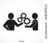 handshake  gears | Shutterstock .eps vector #648199522