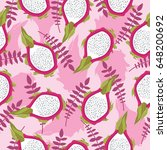 seamless tropical pattern with...   Shutterstock .eps vector #648200692