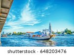 boat on chaophraya river in... | Shutterstock . vector #648203476