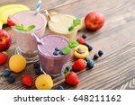 Three Glass Of Fruit Milkshake...