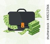 black briefcase. money bag icon ... | Shutterstock .eps vector #648212566