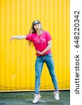 beautiful athletic young woman... | Shutterstock . vector #648220342