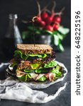 Small photo of Served healthy sandwich