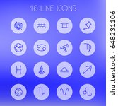 set of 16 galaxy outline icons... | Shutterstock .eps vector #648231106