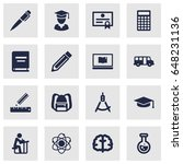 set of 16 studies icons set... | Shutterstock .eps vector #648231136