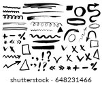 arrows  dividers and borders ... | Shutterstock .eps vector #648231466