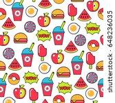 pop art american fastfood... | Shutterstock .eps vector #648236035