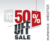 sale up to 50 percent off red... | Shutterstock .eps vector #648237325