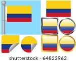 flag set colombia | Shutterstock .eps vector #64823962