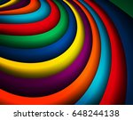 bright colorful wavy background ... | Shutterstock .eps vector #648244138