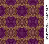 islamic design. purple and... | Shutterstock . vector #648245875