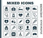 medicine icons set. collection... | Shutterstock .eps vector #648246088