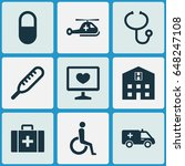 medicine icons set. collection...   Shutterstock .eps vector #648247108