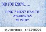 men's health month | Shutterstock . vector #648248008